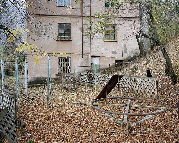 Abandoned playground on the Kirov Street.